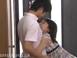 This sensational fresh short haired Japanese girl cant resist her boyfriends cock.